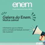 Critérios para correção da redação do ENEM continuam os mesmos