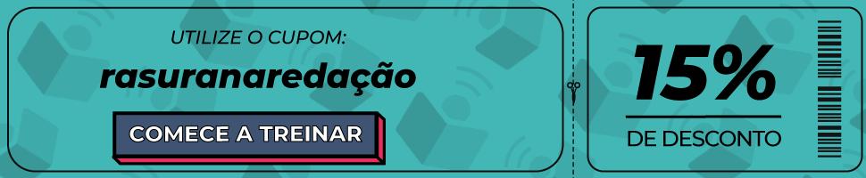 """Ilustração de um cupom de desconto com o cupom """"rasuranaredação"""", direcionando para o link: https://www.imaginie.com.br/precos-imaginie/?utm_source=blog&utm_medium=texto&utm_campaign=post-rasura-na-redacao"""